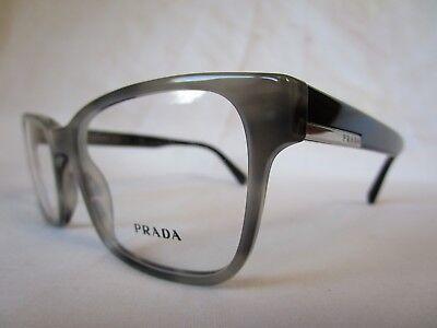 PRADA EYEGLASS FRAME PR06UV VYR1O1 GRAY STRIPED 54-19-145 ITALY NEW & (Black Prada Eyeglass Frames)