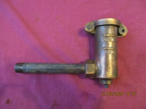 vintage stationery engine old machine brass oil levet filler