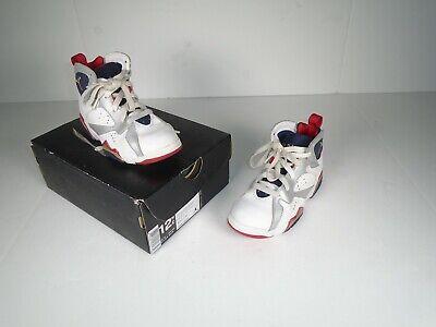 Nike 304773-135 Air Jordan 7 Olympic Gs Kids Basketball Shoes Size 12.5C w/Box