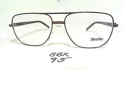 New SFEROFLEX Aviator Style Eyeglass Frame 2236-S697 Silicone Nose Pad (BBK-95)