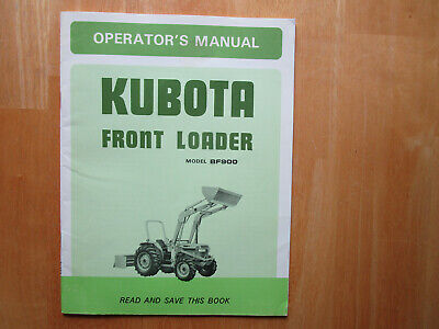 Kubota Front Loader Model Bf900 Operators Manual