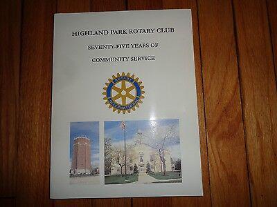 History Highland Park Illinois Rotary Club Book