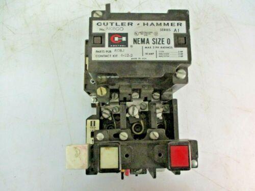 CUTLER-HAMMER MOTOR STARTER NEMA SIZE 0 A10BGO