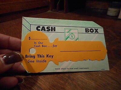 Vintage Cash Box Domestic Finance Mailing