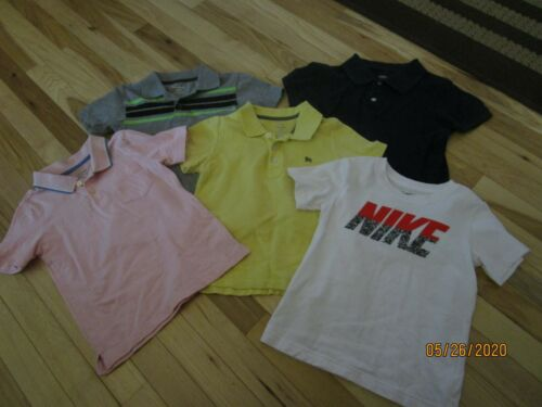 EUC LOT OF BOYS SZ  5T  - 5 - SHIRTS  NIKE, OLD NAVY, AND OSHKOSH