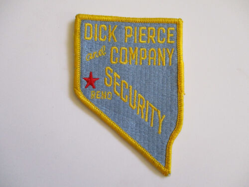 vintage 1980s Reno Nevada Dick Pierce and Company Police Patch