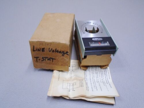 NEW Vintage Dayton 2E347 Line Voltage Thermostat Electric Heating 45-85°F