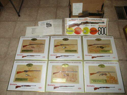 Remington 1966 Dealer Gun Display Promotional Kit -6 Cardboard Counter Displays