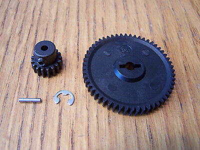 Redcat Blackout XTE PRO 55t Spur Gear & 17t Steel Pinion w/ Pin Clip 17 55 Tooth 17t Steel Pinion Gear