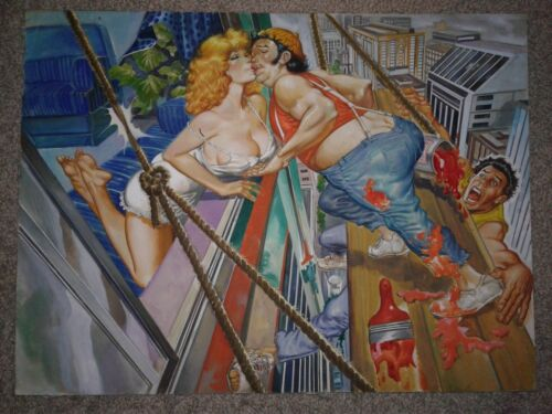 CHAMBITAS 255 MEXICAN COVER ART - HUGE SEXY PAINTED COVER - SUPER HOT BABE WOW