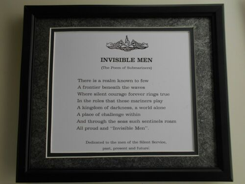 """ INVISIBLE MEN ""                                Navy framed art"