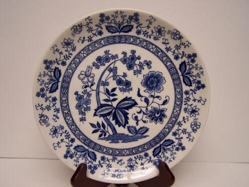 "Heritage JAPAN 2 BLUE ONION DINNER PLATES 10"" Ironstone Blue & White Floral"