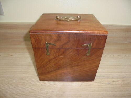 Equatorial Sundial Brass, Copper w Compass In Wood Box Navigation Instrument