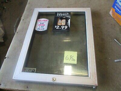 Used Replacement Glass Door For Starbucks Beverage Cooler 23.75x18.75 Decent
