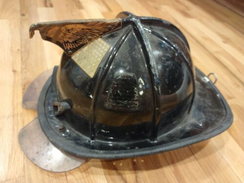 Black Traditional Fire Fighter Helmet  Cairns  e