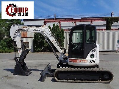 Bobcat 435hag Mini Excavator Backhoe Loader - Enclosed Cab - Hydraulic Thumb