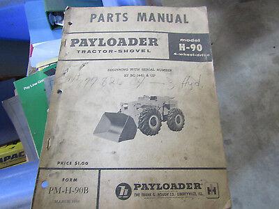 Payloader Tractor-shovel Model H-90 Parts Manual