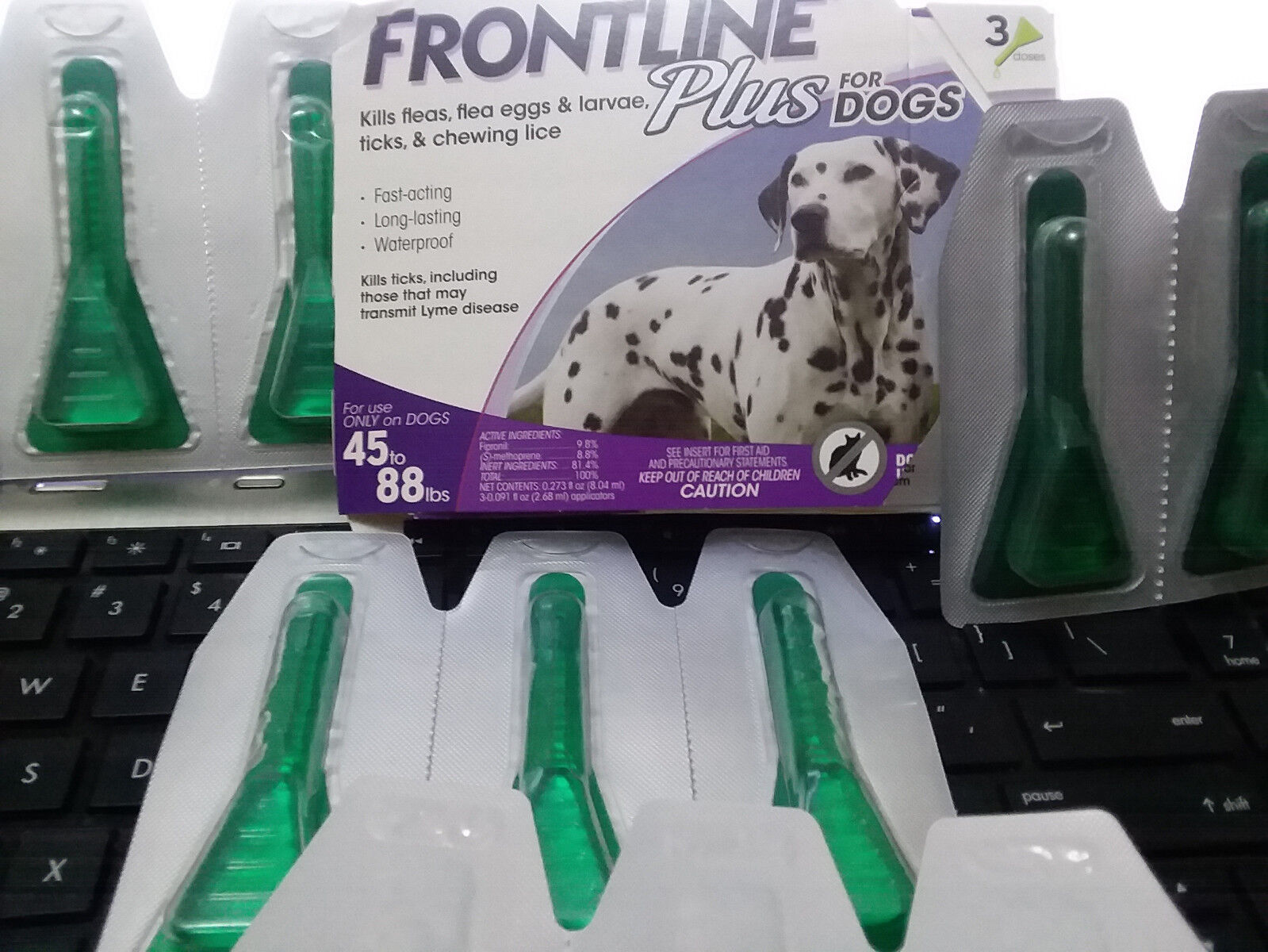 Купить FRONTLINE Plus - FRONTLINE Plus For Dogs 45 - 88 lbs lb 3 x 2 doses each = 6 month supply