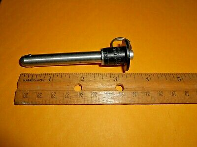 Lockwell Push Button J7 Stainless Lock Pin .373 Dia Length To Ball Lock 2.125