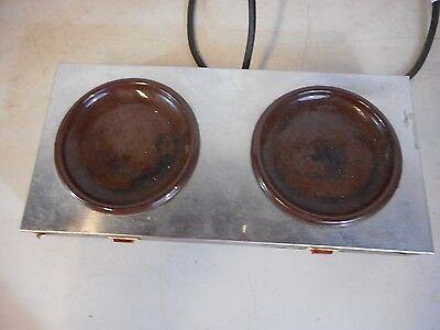 Vintage Bloomfield Countertop Dual Hot Plate Burners Coffee Warmer - Commercial