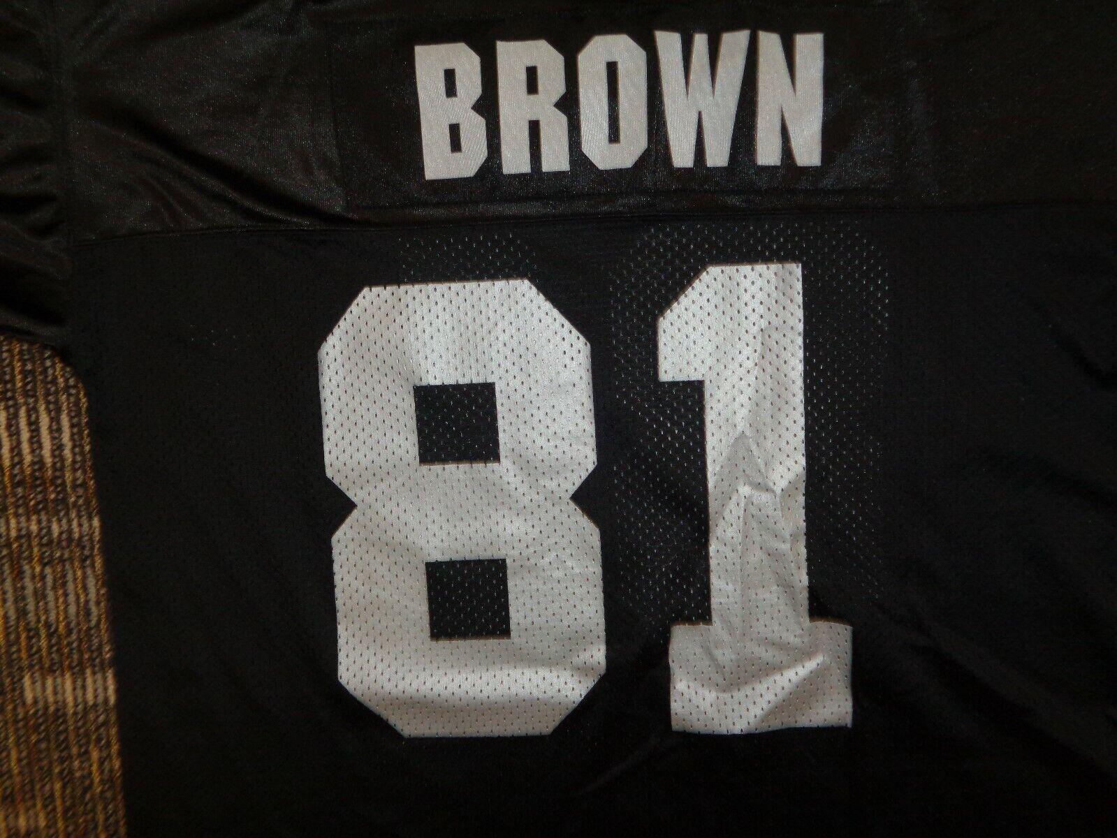 FLAWLESS TIM BROWN OAKLAND LA LAS VEGAS RAIDERS STARTER NFL GAME FOOTBALL JERSEY - $69.99