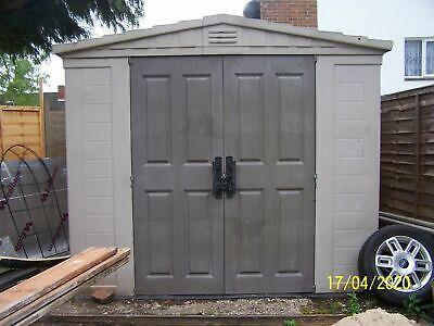keter plastic shed garden storage 10ft x 8ft