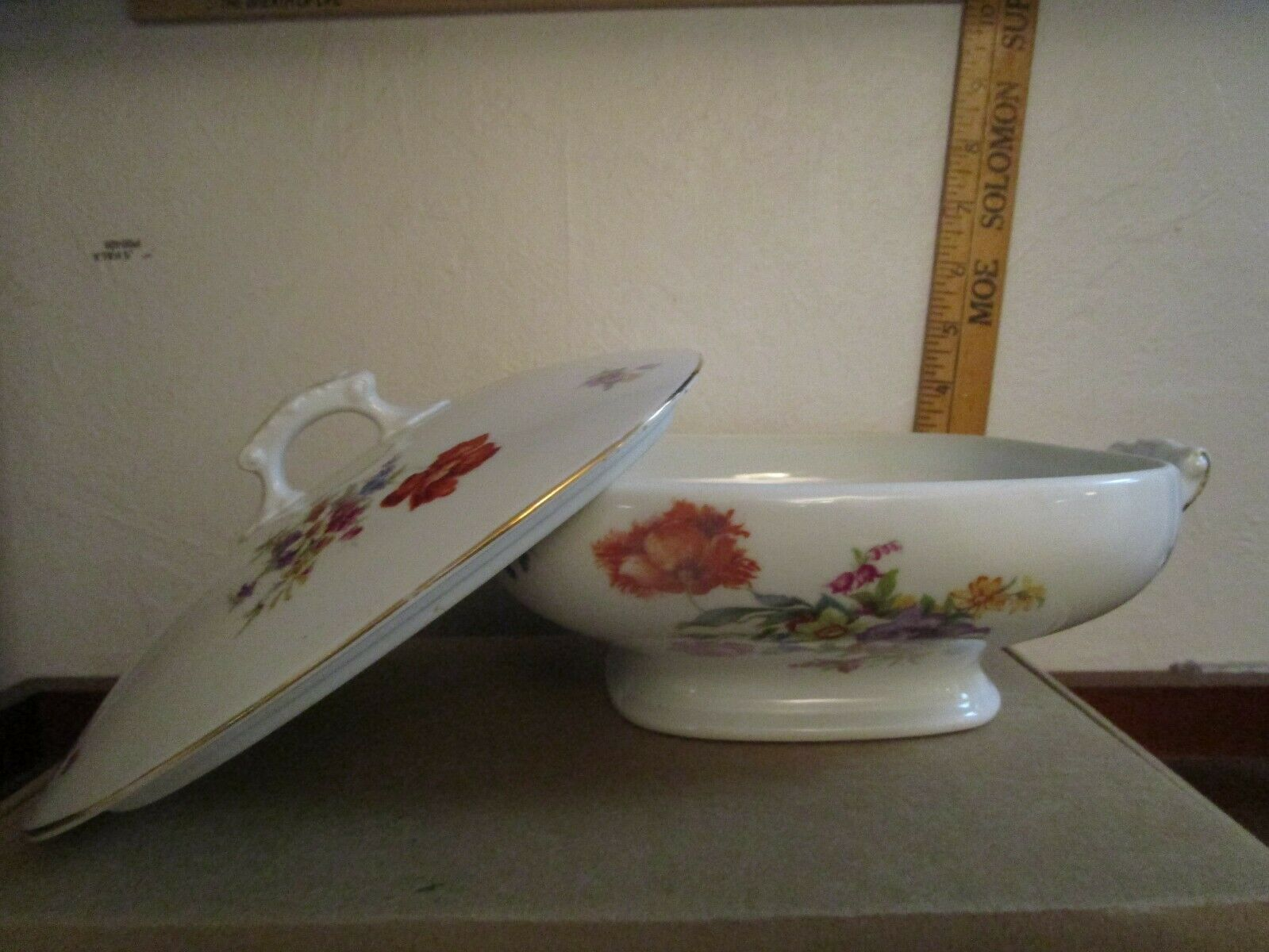 Old Czechoslovakia UNION K China Serving Dish And Lid - $20.00