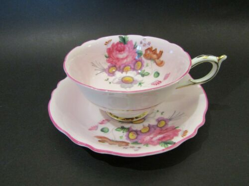 Vintage Double Warrant Queen Mary Paragon Teacup and Saucer