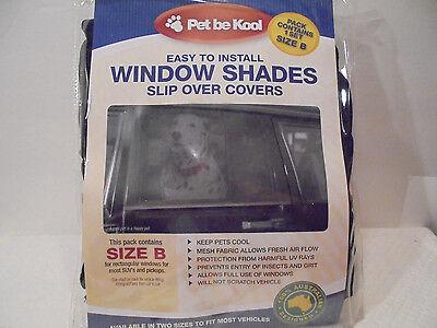 Pet Be Kool Easy To Install Auto Window Shades Slip Over Covers Size B SUVs P.U.