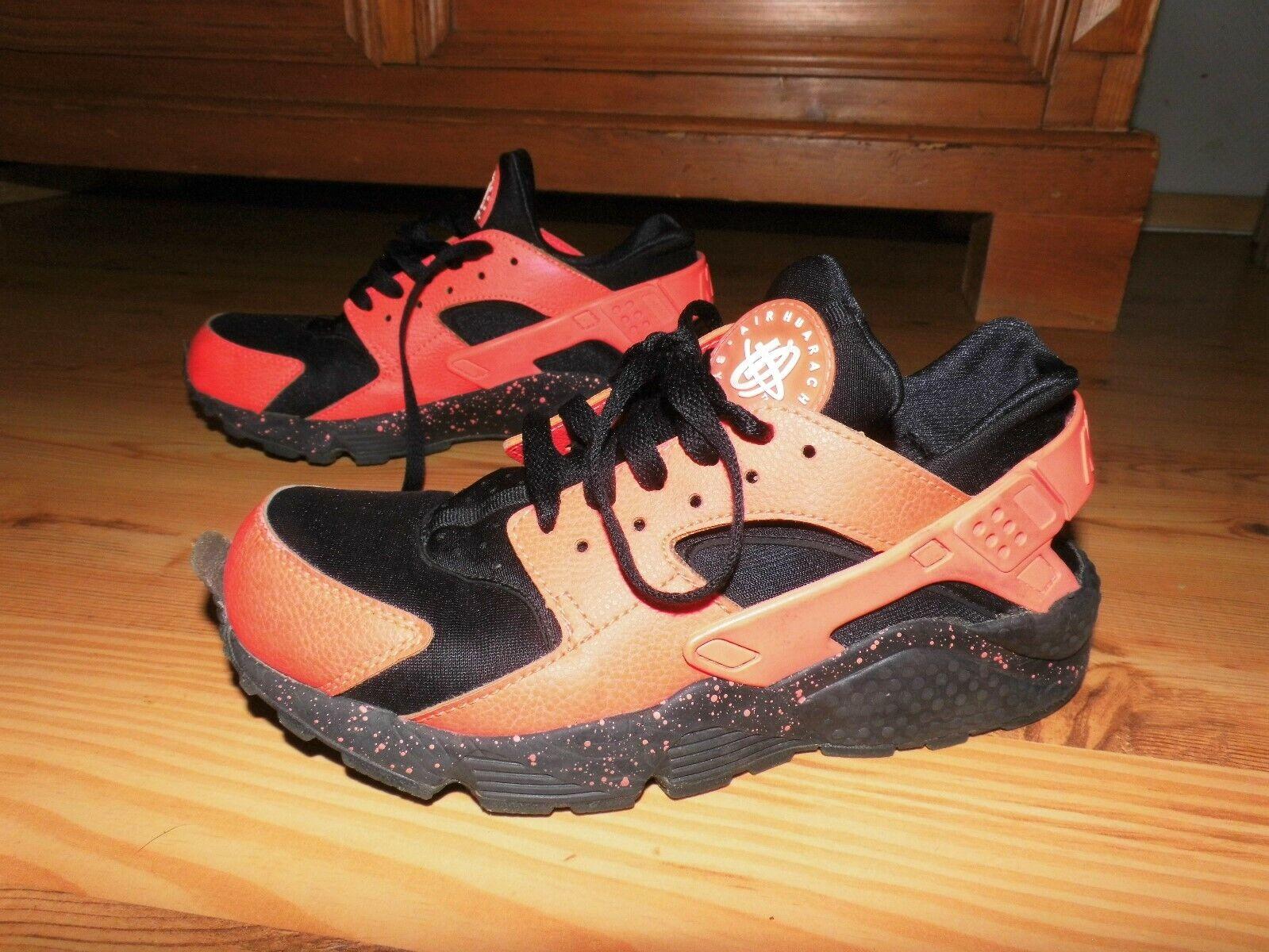 Nike Huarache Sneaker Turnschuhe Schuhe Boots Laufschuhe Gr.39 schwarz neon