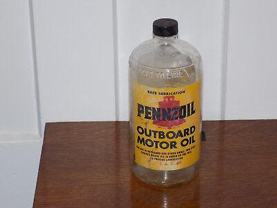 Vintage Pennzoil Outboard Motor Oil Empty Bottle