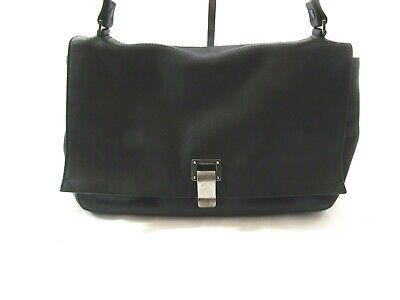 Proenza Schouler PS Courier Black Leather Handbag