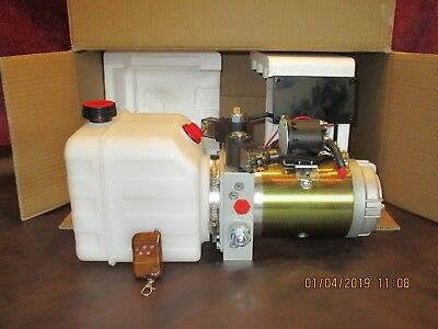 Hydraulic Power Unit Double Acting 12 Vdc Trailer-hoist Wireless Remote