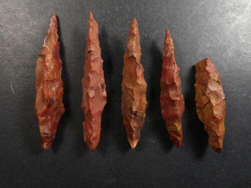 Pre-Columbian Rare Three Sided Arrowhead Cache Chiriqui Panama ca 500 - 900 AD