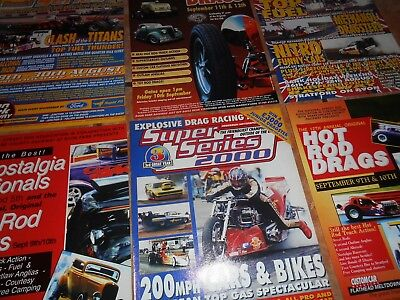 VINTAGE SHAKESPEARE COUNTY RACEWAY/AVON PARK DRAGSTER RACING ADVERTS-NITRO FUEL