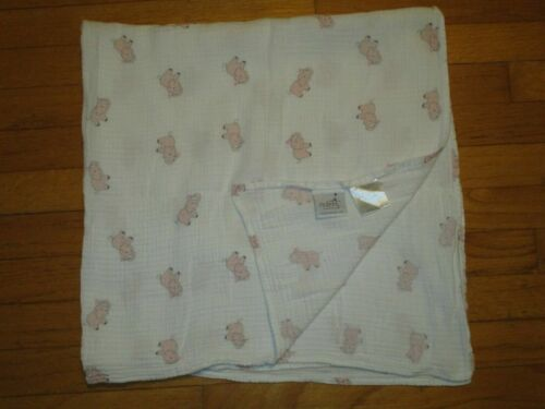 aden + anais Pink Elephants Cotton Muslin Baby Blanket/Lovey