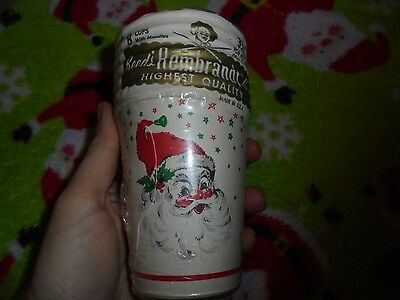 Paper Cups With Handles (Partial set of Santa Claus Christmas holiday Rembrandt paper cups with handles)