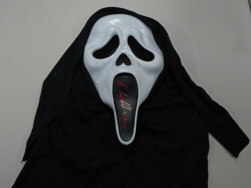 NEVE CAMPBELL Signed GHOSTFACE MASK Clean Autograph SCREAM FREE SHIP JSA COA
