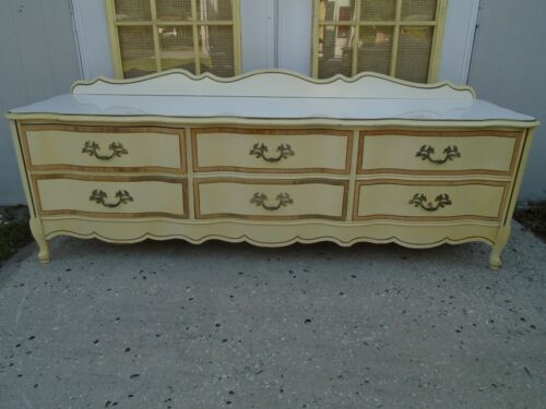 Low French Dresser Console Hollywood Regency Country Provincial Tv Stand Bassett