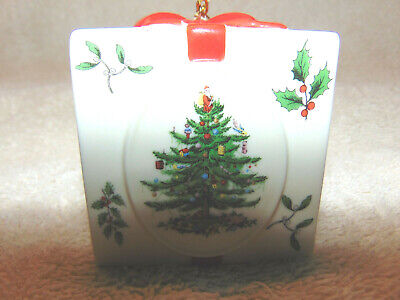 "Spode Ceramic ""Package"" Christmas Tree Ornament #E"
