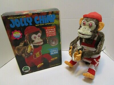 VINTAGE BATTERY OPERATED JOLLY CHIMP W/BOX