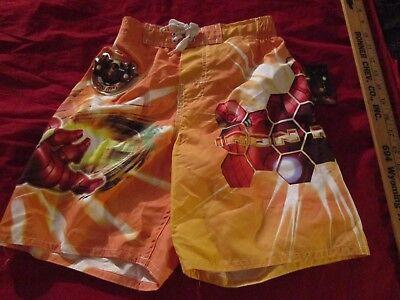 e4c06565ed New Iron Man Boys Youth Swim Shorts Trunks Bathing Suit Size 5/6
