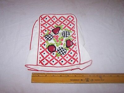 CAN OPENER Cover w Fruit APPLES PEARS PEACHES GRAPES Red Black Green