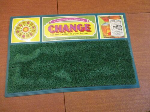 """SOUTHERN COMFORT WHISKEY DRINK BAR MAT """"CHANGE"""" NEW NOS HOROSCOPE FAUX GRASS"""