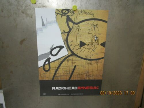 RADIOHEAD Amnesiac 2001 PROMO POSTER Capitol Records THOM YORKE STANLEY DONWOOD