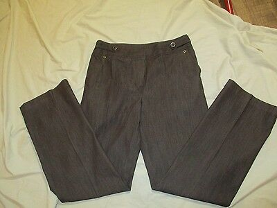 Women's Cato Brown Stretch Pants - Size 10