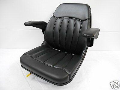 Black Seat W Arm Rests Forklifttelehandlerskytrakgradalllulltraverse Jm