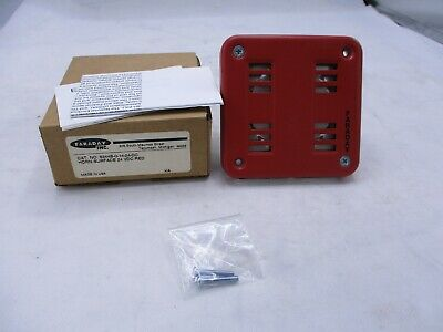New Faraday 6244 6244b-0-14-24-dc Surface Fire Alarm Red Horn