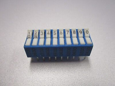 Dip Switch 10 Position Pc Mount Dip Switch Nos New Old Stockqty 5 Ead24