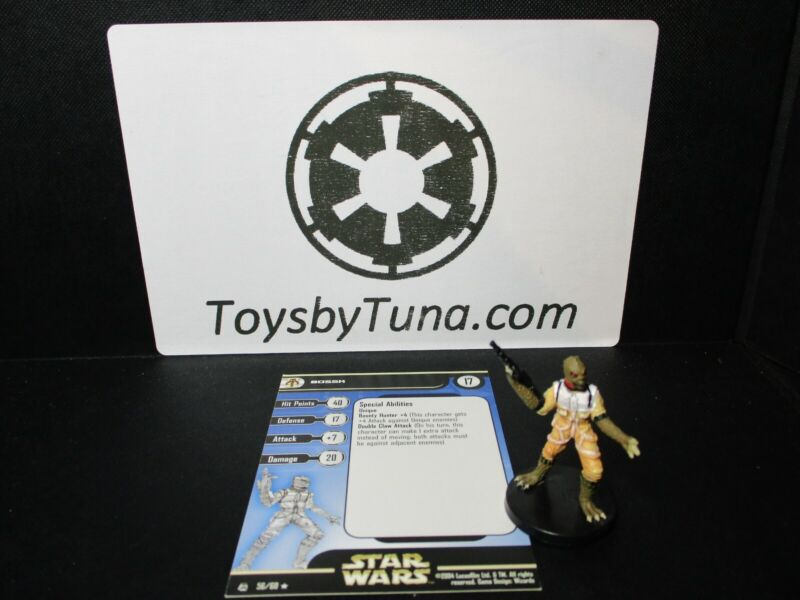 Star Wars Miniatures Bossk Rebel Storm RS w/ Card mini RPG Legion